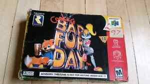 Nintendo 64 conkers bad fur day w/box