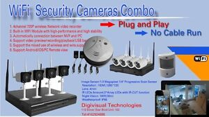 4  and 8 channel  wireless security cameras  Combo