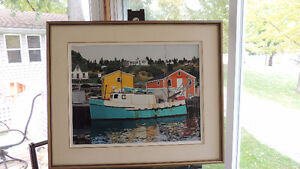 Peggy's Cove area original Maritime art from Jim Cleveland.