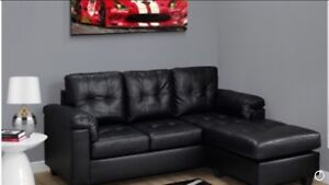 SECTIONAL SOFA REVERSIBLE IN BONDED LEATHER FOR ONLY 485$