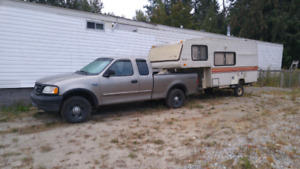 Ford pick up and 5th wheel in salmon arm