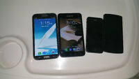 galaxy note 1,   galaxy note 2 , Iphone 5 and LG nexus