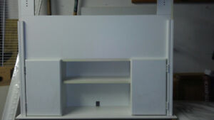 Headboard with shelf and bookcase/cuboard for single bed