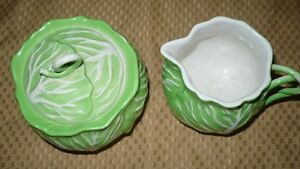 "VINTAGE ADORABLE ""ESTE ITALY"" CABBAGE SHAPED SUGAR & CREAM SET Kitchener / Waterloo Kitchener Area image 1"