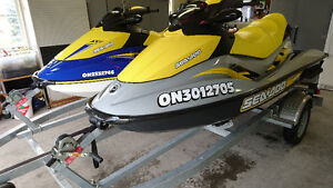 2 Seadoo Package Deal with a Galvanized Heavy Duty Trailer