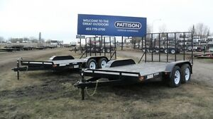 "New 2017 ""Rainbow"" Tandem Axle Utility Trailers"