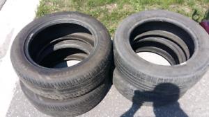 4 all season tires (2 Evergreen 2 Goodyear) 225 55 ZR 17