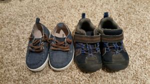 2 pair of size 5 boys shoes