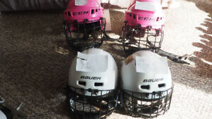 Kids' hockey helmets