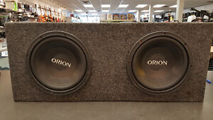Subwoofer 10po double Orion avec casson