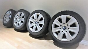 BMW Winter Steel Rims with Hub Caps and Dunlop 205/55 R16 tires