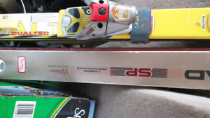 Two sets of professional skis