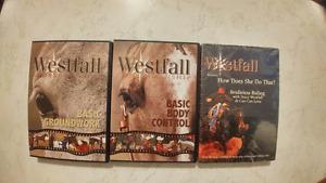 SOLD PPU - (3) Westfall Horsemanship DVDs