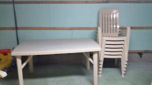set de patio , table et chaises