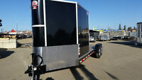 CONSTUCTION COMBO ENCLOSED & FLAT DECK TRAILER