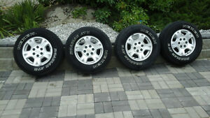 6 bolt chevy rims and tires