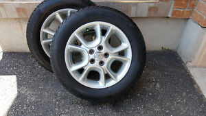 4 OEM Toyota Alloy wheels with Federal Himalayan winter tires Kitchener / Waterloo Kitchener Area image 1