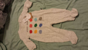 gap onezie with tags attached