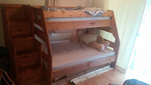 Bunk bed with staircase Obo