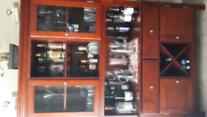 Cabinet Hutch Wine Bar