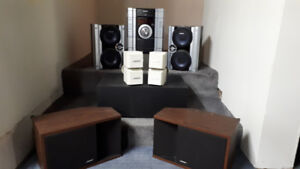 SPEAKERS AND MINI STEREO SYSTEM