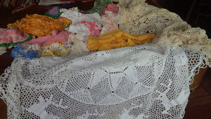 Vintage Fancy Work - Crocheted Tatted Colourful Kitchener / Waterloo Kitchener Area image 2
