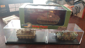 Diecast tanks and racecars