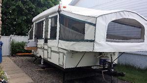 Tente roulotte avec extension