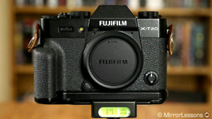 Fuji XT20. Black with handgrip. 3 years extended warranty.
