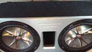 "Two 12"" Kicker CVR Subs W/Ported Box"