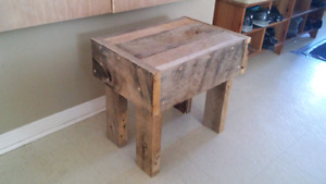 Handmade entry bench