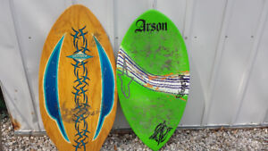 Two Skimboards