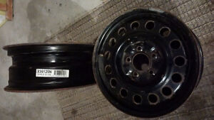 two 16 x 6.5 winter rims with tire pressure sensors Peterborough Peterborough Area image 2