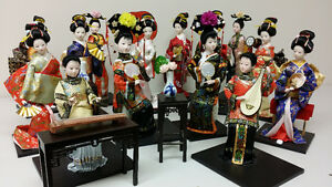 Japanese and Chinese Dolls in porcelain and silk brocade $25 Ea