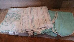 Aden & Anais bamboo swaddle blankets and burp cloth