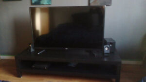 """48"""" INCH TV LED 1080p and IKEA LACK TV STAND $350"""