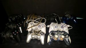 10 broken/untested ps2 controllers
