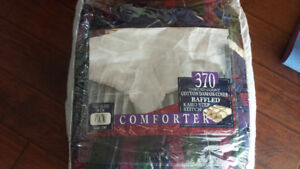 Down filled Comforter with Flannel cover Queen size