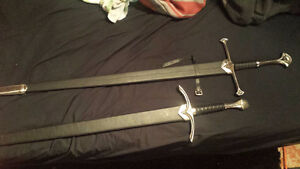 2 lord of the rings swords