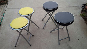 4 Stools, Folding and Padded