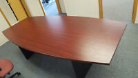 Modern Faux Cherry Wood topped Board Room table - FREE!