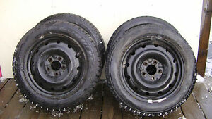 4 Winter Tires On Rims (5 Bolt) 205 55 R 16 (Off a 2012 Honda Ci
