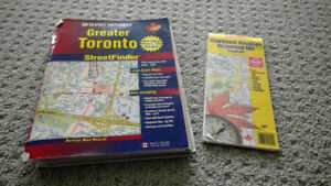 Rand McNally Greater Toronto map book and leaflet map