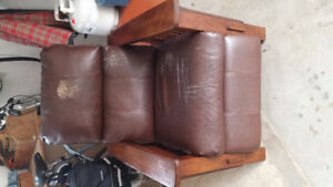 Free faux leather recliner