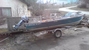14 ft. Aluminum boat with 25 HP Yamaha outboard for sale