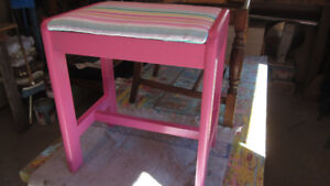 Perky Pink and Stripes Sewing Bench