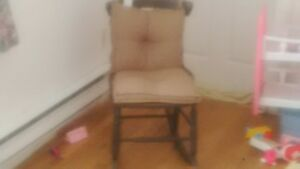 Miniature Rocking Chair with Cushions