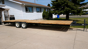 2008 Flat Deck Trailer 24ft long by 8ft wide.