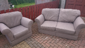 2 Seat Couch and Armchair