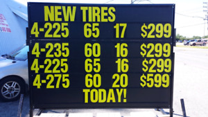 New All Season And Winter  Tires As Low As 199.99 +tx